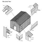 Entrepôt intense de structure métallique de résistance de vent avec le faisceau de grue