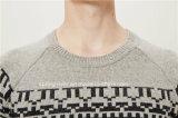maglione del Knit del pullover del jacquard di 50%Lambs Wool50%Nylon per gli uomini