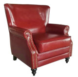Cadeira do clube da cor vermelha, cadeira da barra do charuto, cadeira de couro (A888)