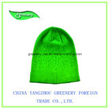 Chapeau promotionnel de Knit de l'hiver de couleur de mode avec une étiquette