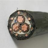 Le noyau 3 a échoué le câble concentrique isolé par PVC de cuivre de basse tension de conducteur