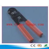 圧着工具、赤いカラーのケーブルのカッター