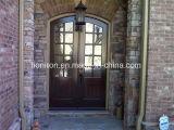 操作可能で明確なガラス錬鉄の両開きドア