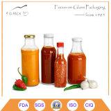 Frasco de vidro transparente para bebidas/vidro garrafas licores SGS FDA