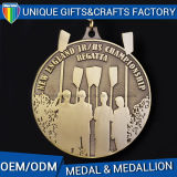Gouden Medaille of het Medaillon van uitstekende kwaliteit van de Douane van het Metaal de 2D of 3D