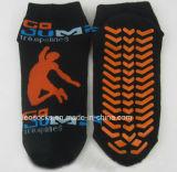 Sokken van Pilates van de Sokken niet van de Misstap van Pilates van de Sprong van de Trampoline van de yoga de Antislip