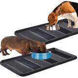 L'alimentazione dell'alimento dell'acqua del cane del gatto dell'animale domestico mangia il cassetto di gomma del metallo pp