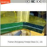 blanc de 4.38mm-52mm/gris clair/bleu/jaune/verre feuilleté en bronze de PVB avec le certificat de SGCC/Ce&CCC&ISO pour la balustrade, opération d'escalier, partition