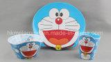 Placa de jantar da melamina com logotipo de Doraemon (PT7135)