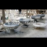 Piantatrice di marmo bianca per la decorazione MP-513 del giardino