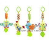 Het overgegaane Veilige Pasgeboren Hangende Stuk speelgoed van het Certificaat met Rammelaar