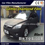 Черный гениальный автомобиль пленки диаманта оборачивая пленку винила PVC