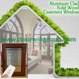 Indicador de alumínio do Casement do porão da madeira de carvalho, Casement de madeira Oaken vermelho de alumínio Windows da durabilidade perfeita