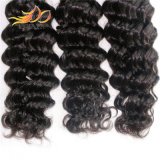 7Aペルーのバージンの毛の織り方の深い波のRemyの人間の毛髪