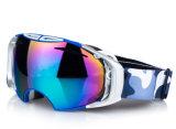 De dubbele Beschermende brillen van het Masker van Eyewear van de Veiligheid van de Bescherming van Snowboard van de Lens van PC UV