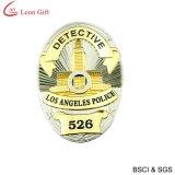 Emblema personalizado em couro da polícia de metal (LM1064)