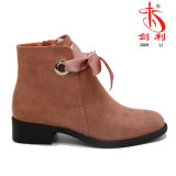 As mulheres de Novo Estilo Bowknot ao redor do tornozelo Toe Boot (AB602)