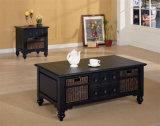 Mesa de café de madera negra para OEM