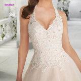 Halter-Mieder-Ballkleid-Hochzeits-Kleid mit multi Schicht-Fußleiste