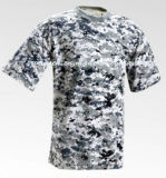 O padrão Digital Camo homens T Shirt para Amry
