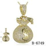 Novo design do Hip Hop jóias de prata pendente 925 grossista de fábrica