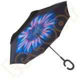Тебя от ветра Handsfree в перевернутом положении РЕВЕРСИВНЫЙ датчик дождя и освещенности зонтик