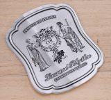 Logotipo plana etiqueta autocolante de alumínio personalizada