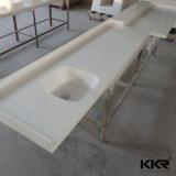La taille de coupe commerciale à surface solide salle de bain haut de la vanité de comptoir