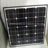 Schwarzer RahmenPortable, der Solarbaugruppe mit Controller faltet