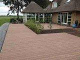Matériau de construction en plein air WPC decking en plastique en bois carrelage de sol