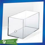 Rectángulo de sugerencia de acrílico, visualización del folleto del plexiglás con el rectángulo