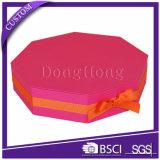 カスタム高品質の六角形の形のペーパーセットアップボックス