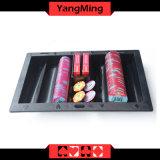 Microplaqueta plástica preta Tray&#160 da tabela do flutuador da microplaqueta do póquer; (YM-CT06)
