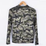 Form-Dame-Bell-Hülse V-Stutzen Grenadine-chromatische Farben-Dame Shirt