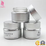 Tarro de aluminio de plata cosmético para reparar la crema hidratante