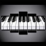 5 [كس] [بيس كنفس] فنية بيانو [هد] يطبع لون موسيقى ملصقة نوع خيش صورة زيتيّة منزل زخرفة جدار صور لأنّ يعيش غرفة