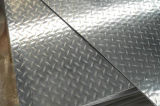건물과 지면을%s 치장 벽토에 의하여 돋을새김되는 Checkered 알루미늄 장 격판덮개