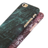 Caixa lustrosa do telefone da textura dura do granito do mármore do PC para o iPhone 6/7