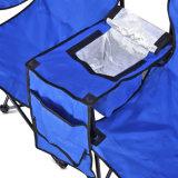 El campamento de plegado doble y silla de playa con paraguas extraíble y refrigerador