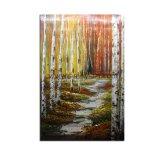 À la main de l'automne de l'huile sur toile Birch Tree Peinture décoration pour la maison