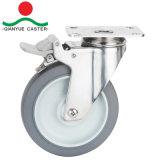 En acier inoxydable Roulette pivotante pour charge moyenne