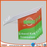 Promoción de la atractiva pared banderas con la pole y la base