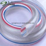 PVC明確な鋼線補強された水産業排出のホース