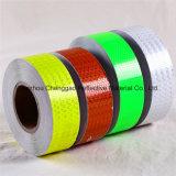 Cinta reflexiva roja de la seguridad del diseño del color sólido del panal del PVC (C3500-OR)