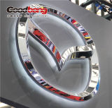 Acryl LEIDENE van de Deklaag van het Chroom van Costomize Teken van het Embleem van de VacuümAuto van Thermoforming 3D Auto