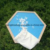 Доска для сообщений 10 дюймов с мешком хлопка пем пластмассы собирательными и стойкой древесины