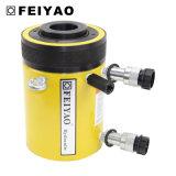 Cilindro hueco hidráulico del émbolo de descarga del compacto temporario doble de las válvulas