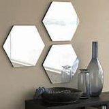 Heet! manier 4mm de Hexagonale Gevormde Tegels van de Spiegel van de Badkamers Zilveren voor de Spiegel van de Muur van de Spiegel van de Badkamers