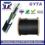 2-144 코어 G652. D GYTA /Gysta 광학 섬유 케이블, 느슨한 관, 금속 힘, 까만 PE 칼집