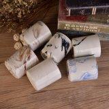 Finished di marmo progettano i supporti per il cliente di candela di ceramica